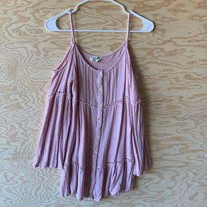 Shoulderleas long sleeve dress